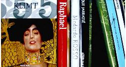 Klimt Books, still life painting of books
