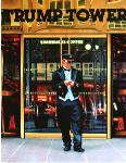 Trump Tower, painting of doorman in front of Trump Tower, New York